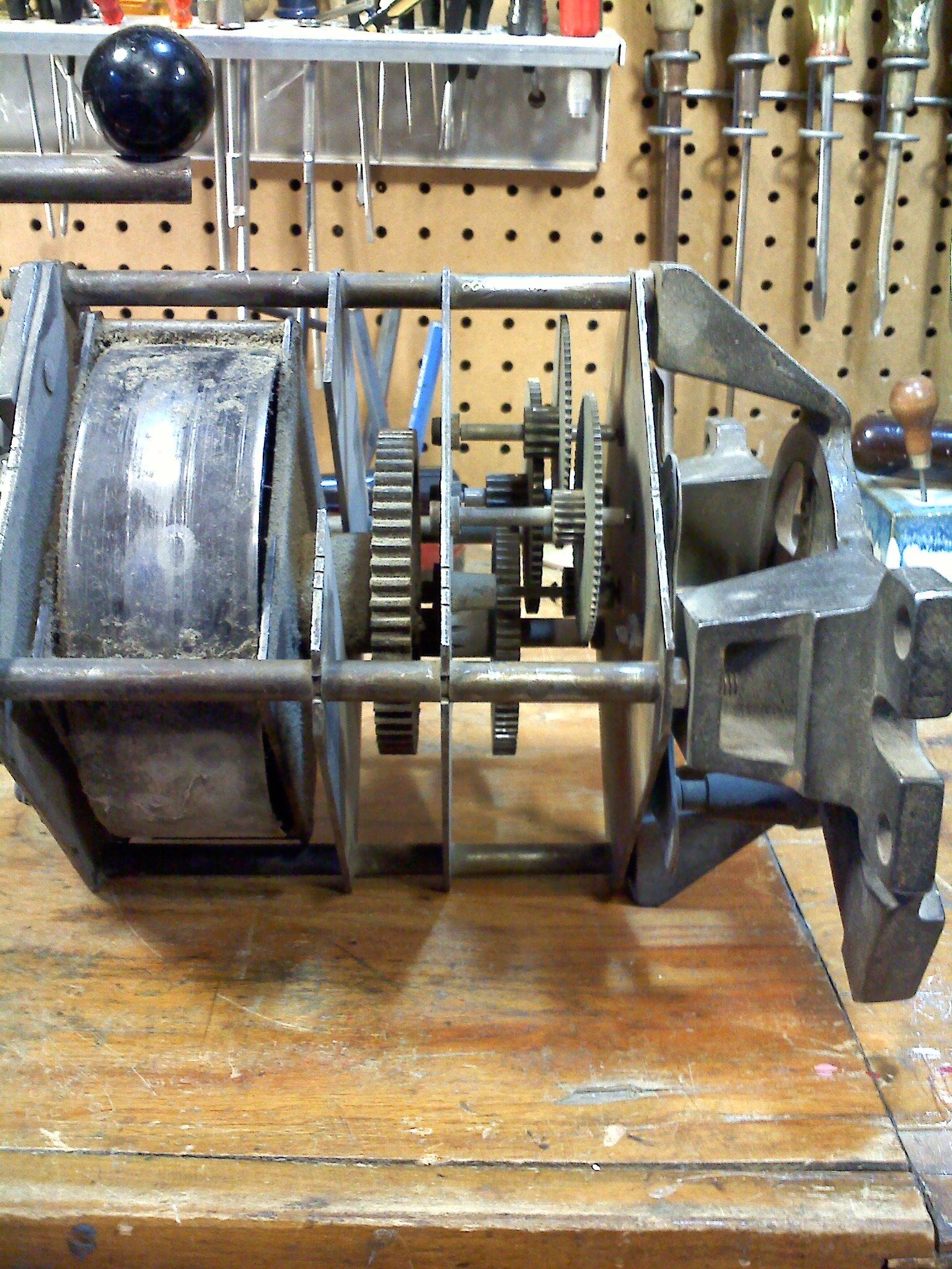 Large Wind Up Motor Restoration